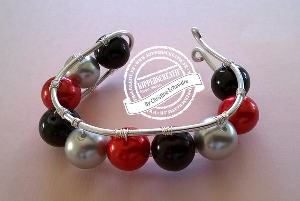 DIY Bracelet Fil métal et Perles
