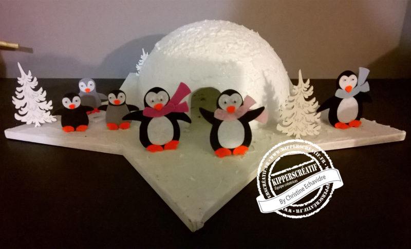 DIY Kippers : décoration de table hivernale avec des pingouins