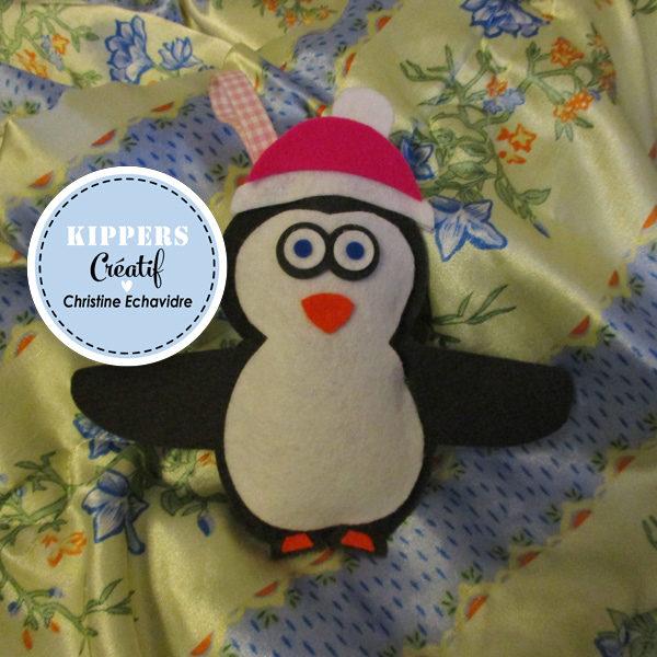 DIY Kippers : Un doudou Pingouin