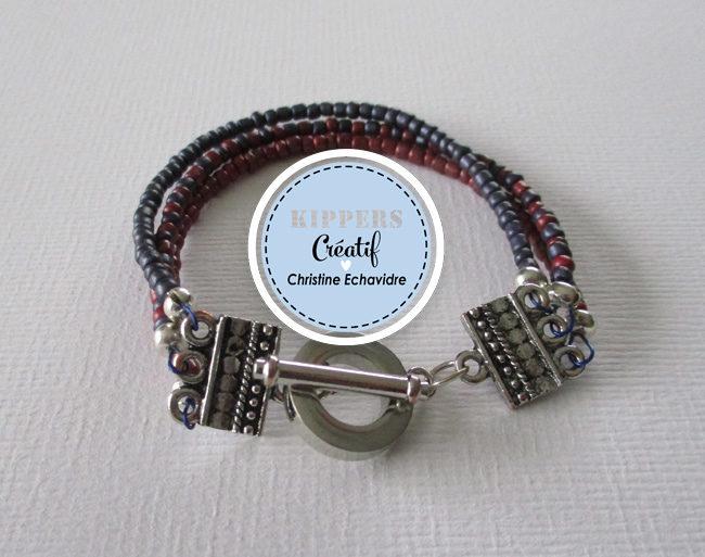 DIY Bracelet duo de rocailles