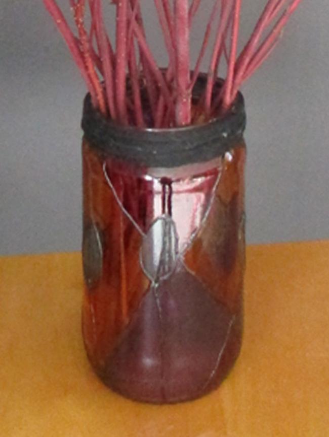 Vase en peinture Vitrail Transparente