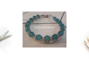 Bracelet de Perles Translucides