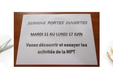 Semaine Portes Ouvertes 2019 à la MPT d'Ergué Armel
