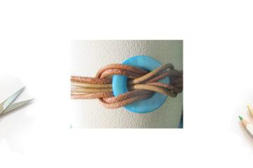 Bracelet Cuir et Rond de Nacre