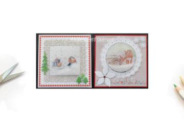 2 modèles de cartes à neige