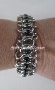 Bracelet Chaîne et Perles Verres