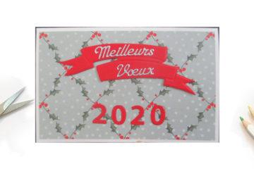 Créer une carte de vœux avec les chiffres 2020