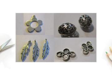 Des entretoises, breloques et perles métal à vendre