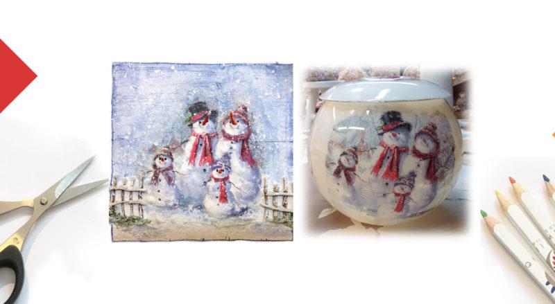 Kippers DIY Famille de bonhommes de neige