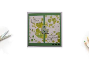 Une carte de Vœux avec une très grande esperluette