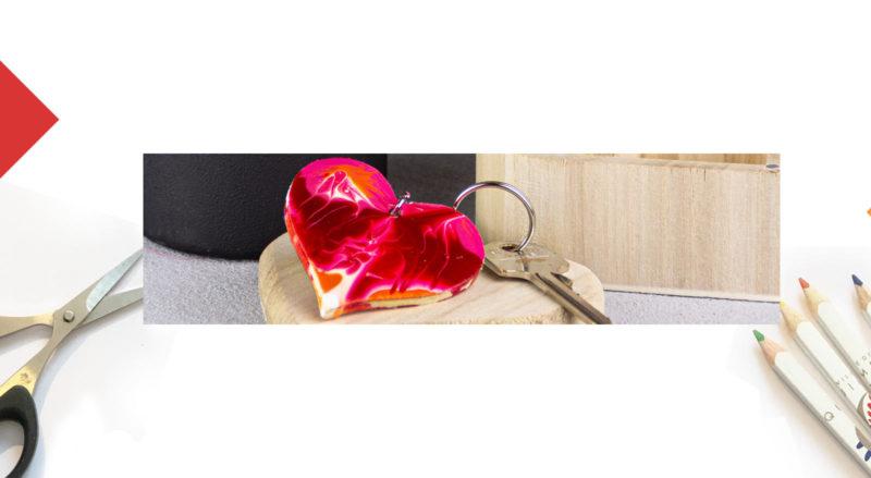 DIY Un porte-clefs flamboyant pour la Saint Valentin !