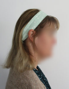 mon bandeau de cheveux Seventies